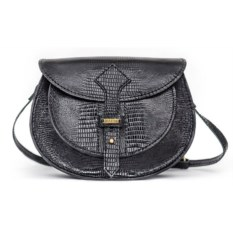 Женская сумка из натуральной кожи (цвет — черный)