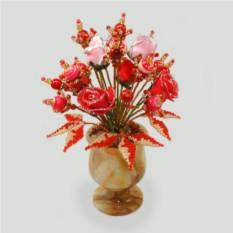 Цветы из коралла и родонита Цветы любви