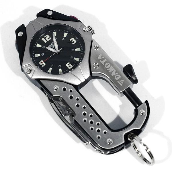 Часы-карабин Dakota Watch в титановом корпусе, черные