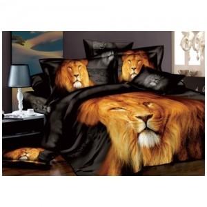 Постельное белье «Царь зверей», евро