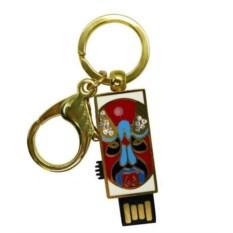 Флешка-брелок Маска (цвет: красный с голубым)