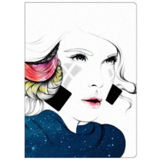 Обложка для паспорта Девушка-ночь