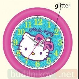 Детские настенные часы Hello Kitty (цвет фуксия)