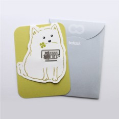 Закладка с открыткой Funny Animals Good Luck