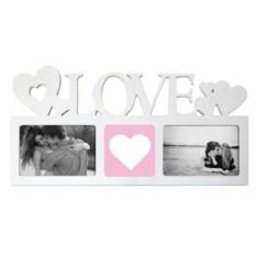Мультирамка с вашим фото Love (цвет — белый)