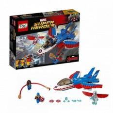 Конструктор Лего. Воздушная погоня Капитана Америка