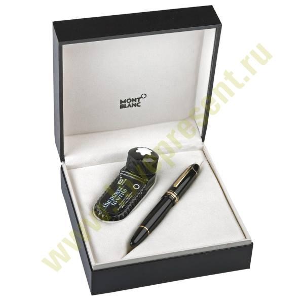 Набор: ручка перьевая с чернильницей Montblanc