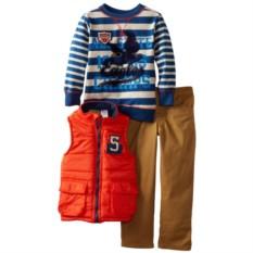 Комплект для мальчика 3 в 1 (жилет, брюки, свитшот)