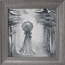 Эксклюзивная картина  из песка Леди