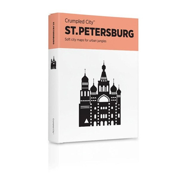 Карта Санкт-Петеребург, мятая