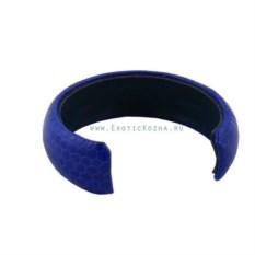 Женский кожаный браслет из змеи (цвет: синий)