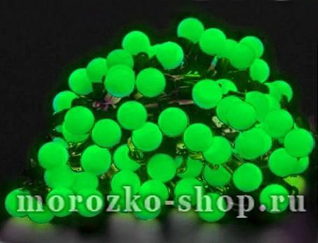 Электрогирлянда Большие зеленые мультишарики, 100 зеленых LED ламп