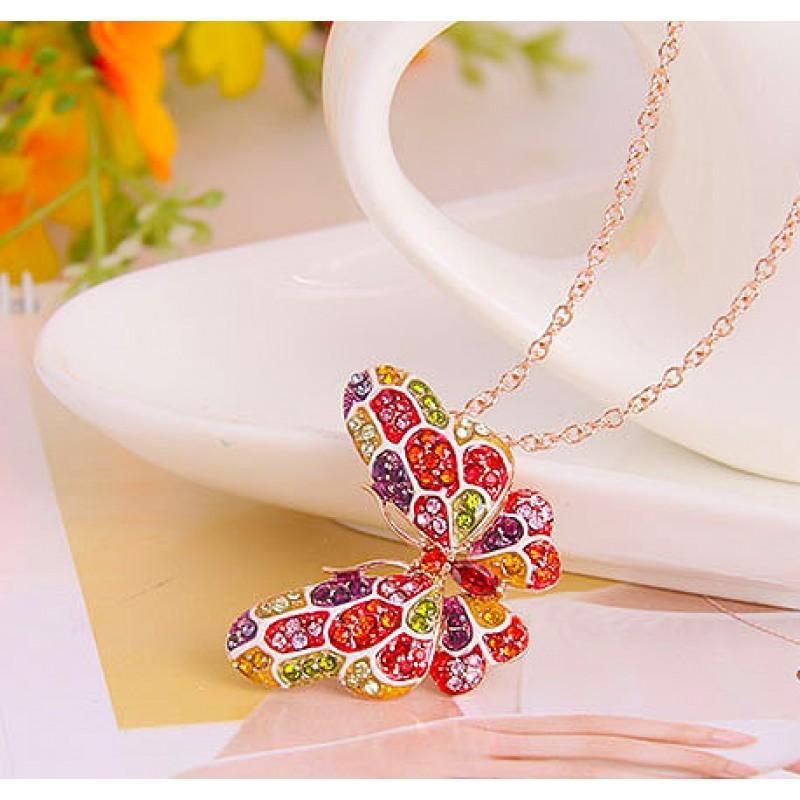 Кулон с разноцветными кристаллами Сваровски Фиеста