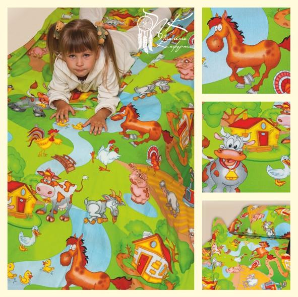 Комплект постельного белья (на резинке) Хуторок (КПБ (на резинке) Хуторок детский (матрас 160 см.))