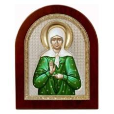 Серебряная икона Матрона Московская