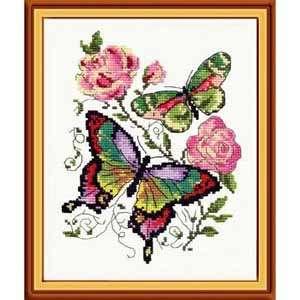 Набор для вышивания «Бабочки и розы»