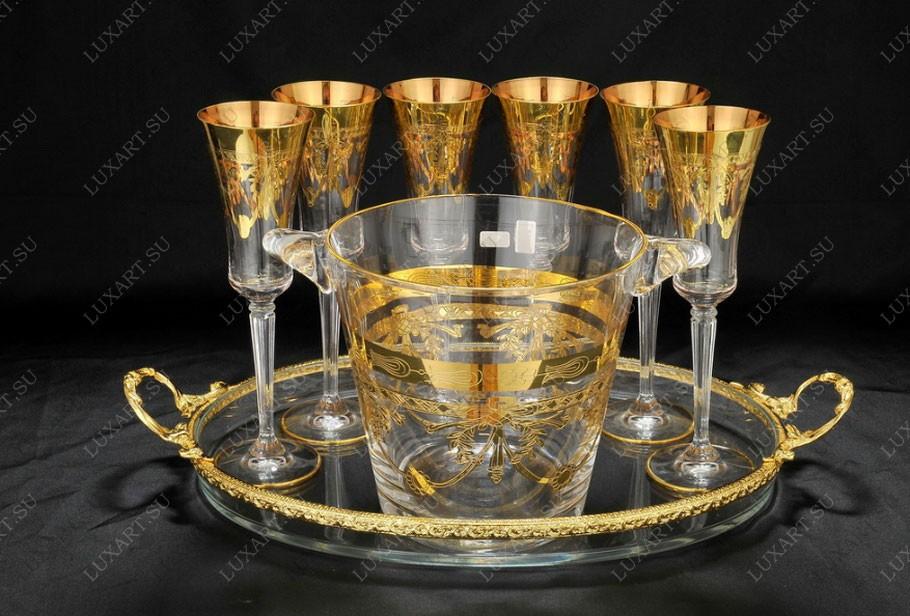 Хрустальный набор для шампанского Cre Art