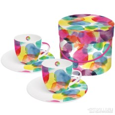 Набор чашек для эспрессо в подарочной коробке Aquarell dots