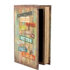 Шкатулка-фолиант «Надписи», 26x17x5 см