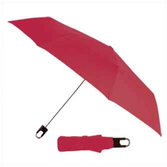 Темно-красный складной механический зонт Twist