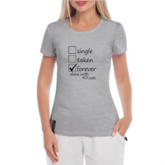 Серая женская футболка 40 котов