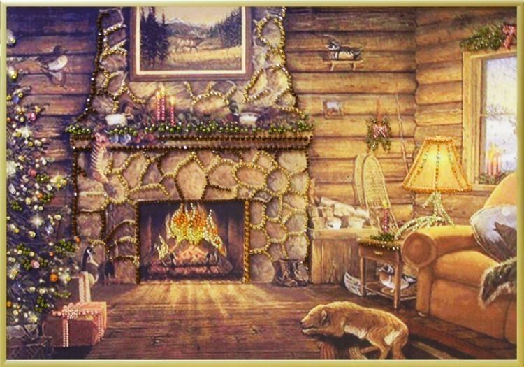 Картина Swarovski Рождественский вечер, 1517 кристаллов, 35х50