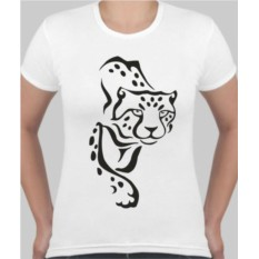Женская футболка Тату-леопард