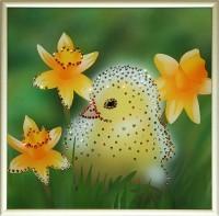 Картина с кристаллами Swarovski Цыпленок