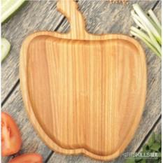 Деревянная тарелка Яблоко