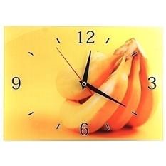 Стеклянные настенные часы Банан из жарких стран