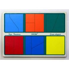 Детская головоломка Сложи квадрат. 1 уровень