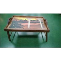 Столик для завтрака в постели с ручками Караван в закате