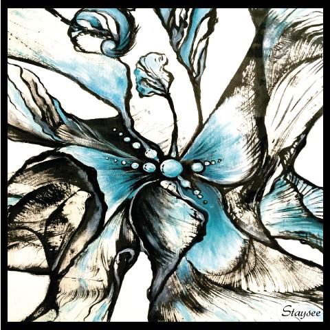 Шифоновый платок BLUE FANTASY