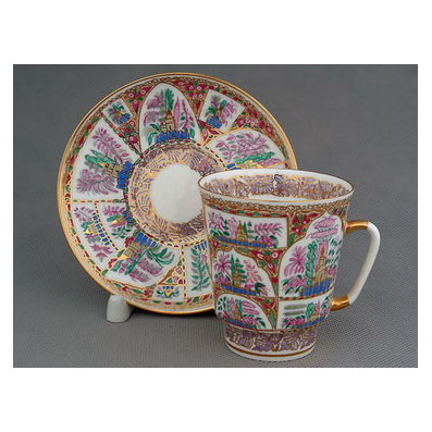 Чашка с блюдцем «Нежные пейзажи»
