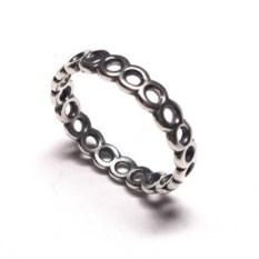 Модульное кольцо, серебро 925