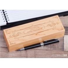 Авторучка в деревянном футляре с гравировкой «Царская»