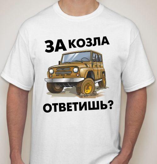 Мужская футболка За козла ответишь?