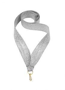 Лента для медалей серебристая