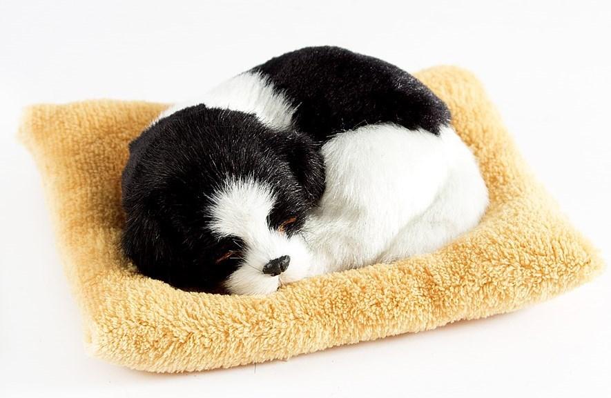 Декоративная фигурка Собачка на бежевой подушке