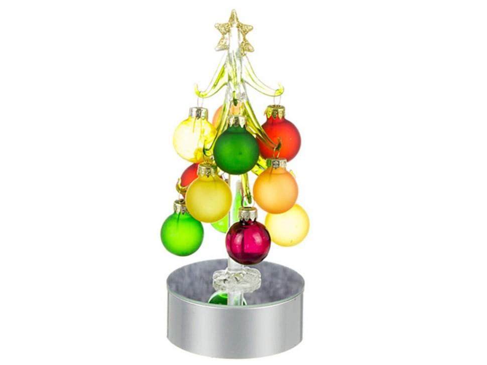 Декоративная елочка с шарами и подсветкой