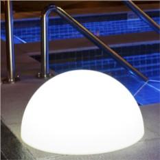 Светящаяся белая полусфера 30см