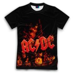 Мужская футболка 3D с полной запечаткой AC/DC
