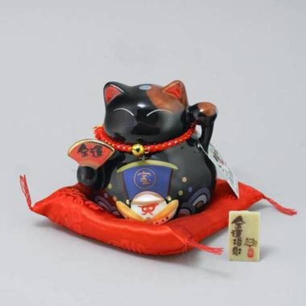 Статуэтка Черный сидячий японский кот