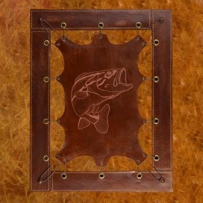 Картина из кожи Эскиз рыбы