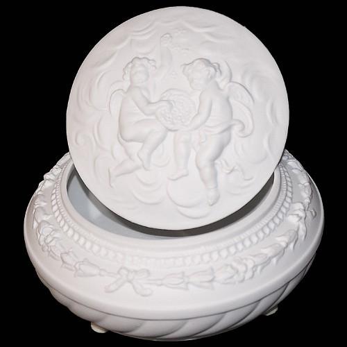 Шкатулка из фарфора Ангелы Tiche Porcellane