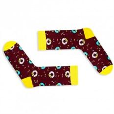 Дизайнерские носки «Шоколадный пончик Симпсона»