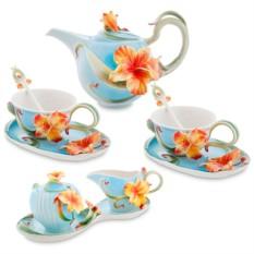 Подарочный чайный набор «Золотистая лилия»