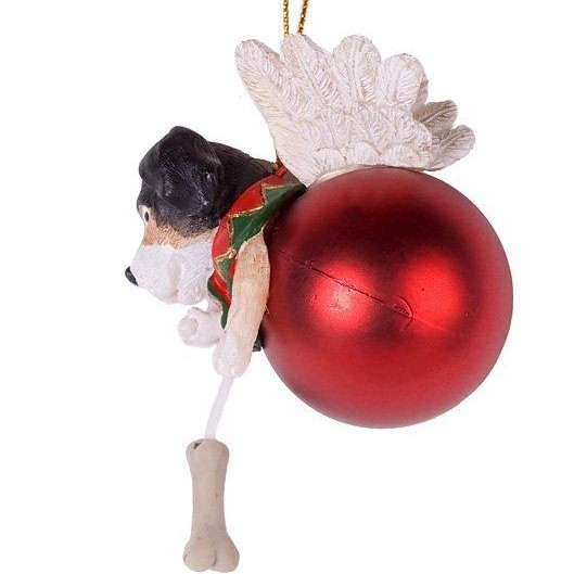 Ёлочная игрушка «Собачка на шаре»