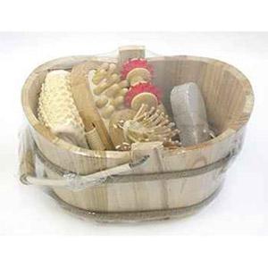 Банный набор в деревянном ведерке