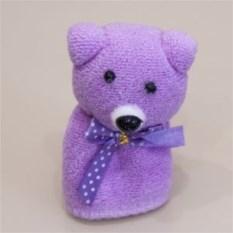 Сиреневое подарочное полотенце Мишка